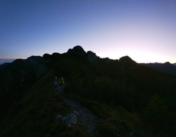 Allenamenti al tramonto sulle Pale di Cogorna... WOW